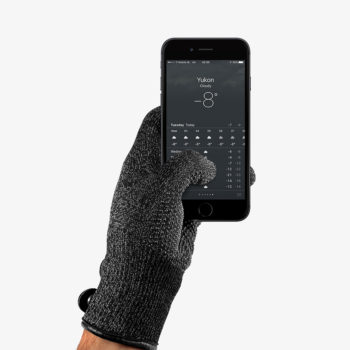 MUJJO TOUCHSCREEN DOUBLE LAYERED GREY GLOVES LIFESTYLE