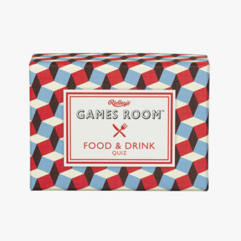 RIDLEY'S GAMES FOOD AND DRINK QUIZ GAME PACKAGING BOX