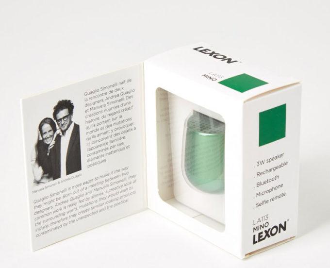 lexon mino bežični zvučnik zelene boje u pakiranju