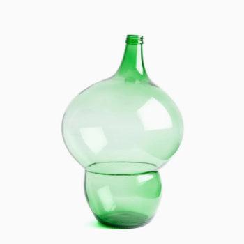 klaas kuiken staklena zelena ukrasna vaza model 11