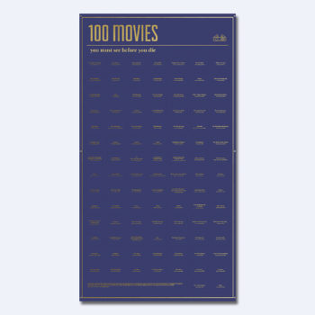 DOIY POSTER 100 MOVIES YOU SHOULD WATCH IN YOUR LIFETIME