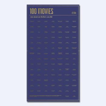 doiy inetraktivni poster 100 filmova koje morate pogledati u životu