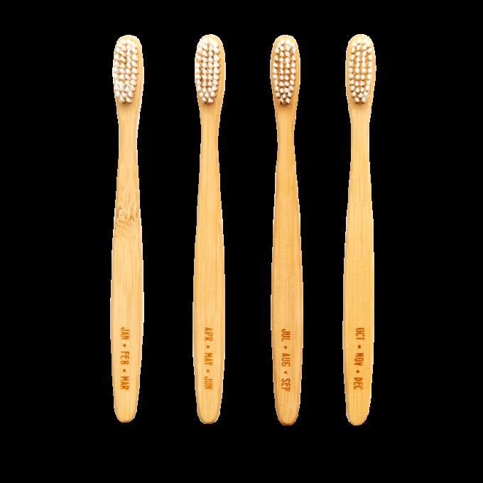 izola četkice za zube od bambusa set od 4