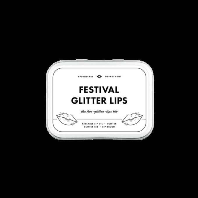 Men's society set za festivalske glitter usne pakiranje