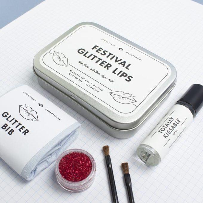 men's society festival set za glitter usne kutija i sadržaj uvećana