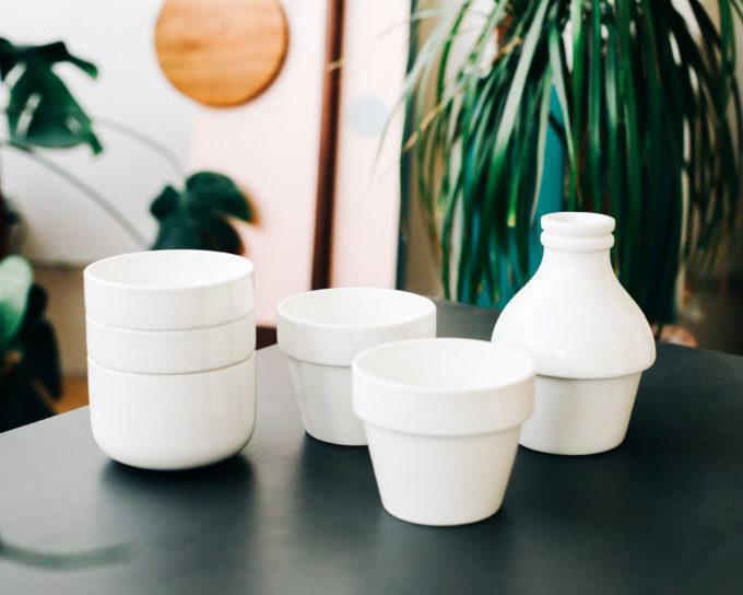 doiy s mlijekom molim - set za kavu od 4 porculanske šalice i 2 posude za mlijeko i šećer razdvojene