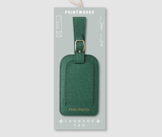 printworks zelena privjesnica za prtljagu pakiranje