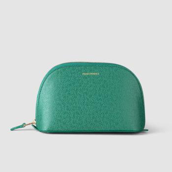PRINTWORKS GREEN MAKEUP BAG FOR TRAVEL