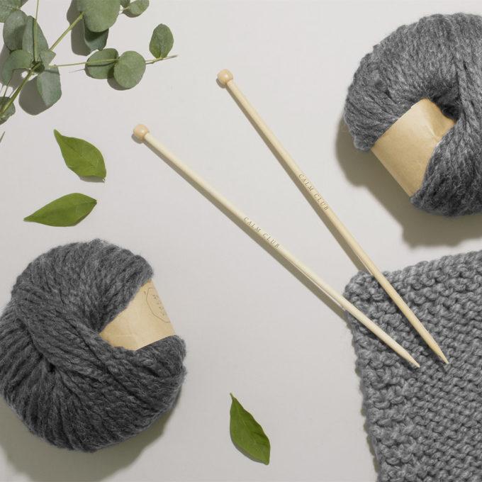 calm club komplet za pletenje deke lifestyle