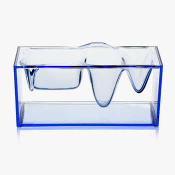 Lexon stakleni fluidni stalak za radni pribor plavi