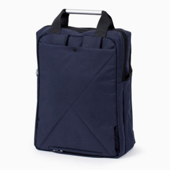 LEXON AIRLINE BLUE MULTIFUNCTIONAL DOUBLE BACKPACK WITH A LAPTOP COMPARTMENT BACKSIDE HIDDEN STRAPS