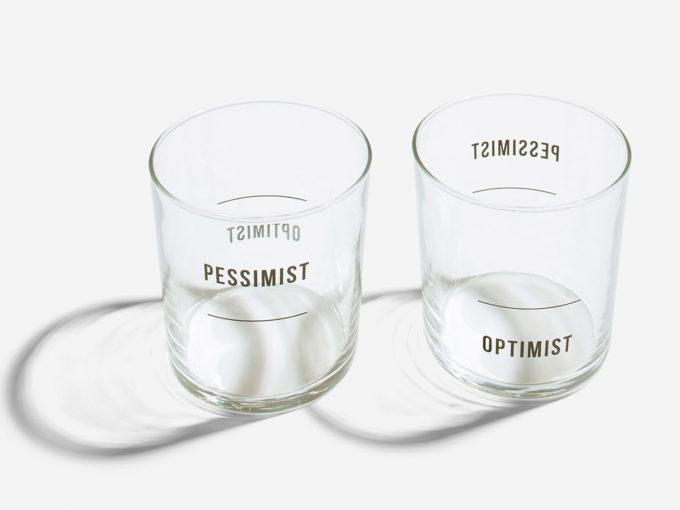 School of life čaše optimist i pesimist set od dvije