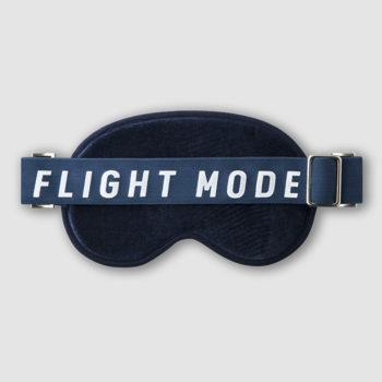PRINTWORKS BLUE EYE MASK FOR TRAVELLING FLIGHT MODE