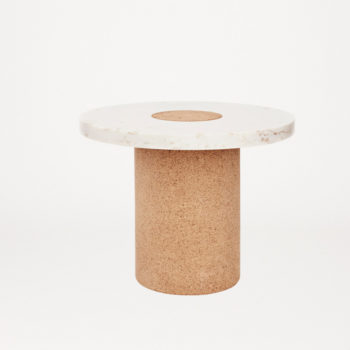 FRAMA SINTRA TABLE MADE FROM WHITE MARBLE AND CORK