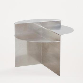 FRAMA RIVET SIDE TABLE MADE FROM UNTREATED ALUMINIUM