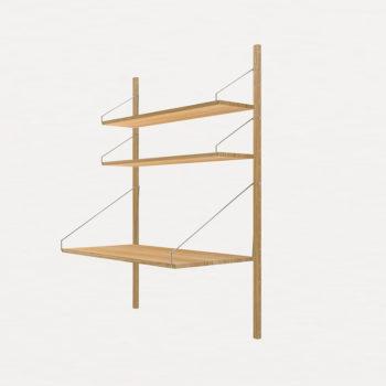 Frama-sustav-polica-i-stola za rad od hrasta