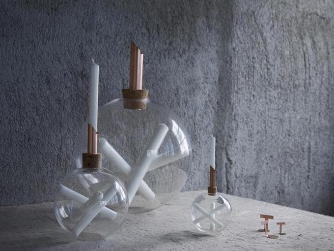 scandinavia form glasilium vaze sa svijećama lifestyle