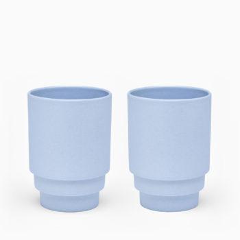 Puik monday plave šalice za kavu set od dviej keramičke
