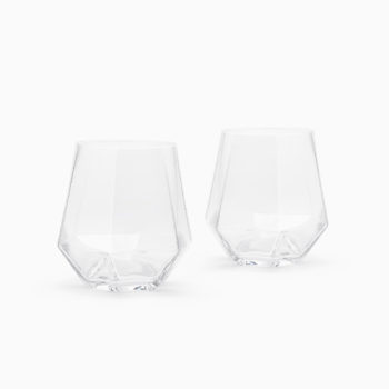 PUIK RADIANT ELEGANT DIAMOND SHAPED GLASSES, SET OF TWO