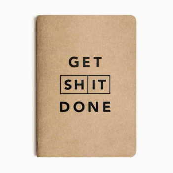 MI GOALS A5 GET SHIT DONE KRAFT NOTEBOOK TO DO LIST FOR BETTER PRODUCTIVITY