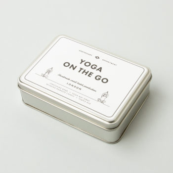 MEN'S SOCIETY YOGA ON THE GO KIT IN A GREY TIN BOX
