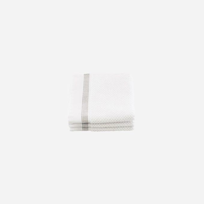 Meraki mali bijeli pamučni ručnici set od tri 30x30cm