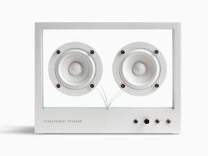 transparent sound bijeli stakleni bluetooth zvučnik veličine s
