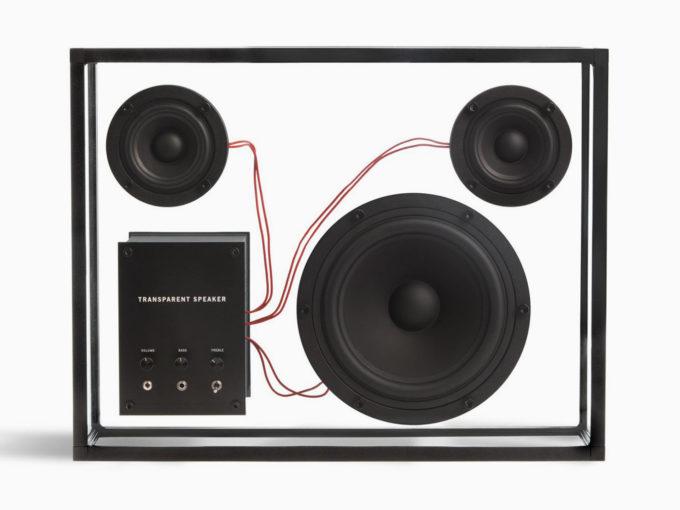 Transparent-sound crni bluetooth stakleni-zvučnik veličine l