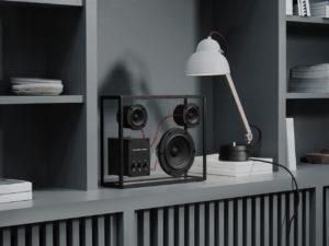 transparent sound crni stakleni zvučnik veličine L