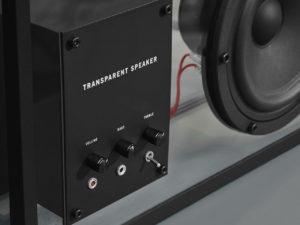 transparent sound crni stakleni bluetooth zvučnik veličine l uvečano