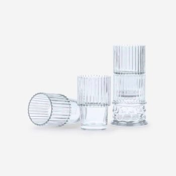 DOIY HESTIA FOUR STACKABLE GLASSES SEPARATED