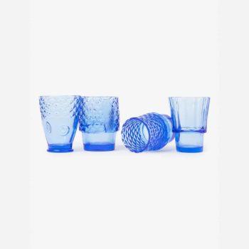 doiy koifish četiri plave staklene čaše odvojeno